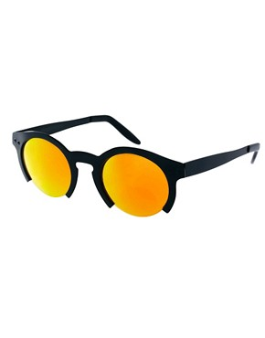Image 1 of ASOS Orange Lens Cut Off Sunglasses