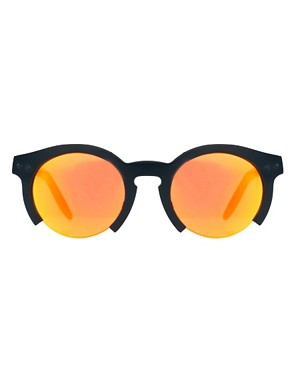 Image 2 of ASOS Orange Lens Cut Off Sunglasses