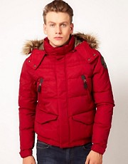 Schott Quilted Short Jacket