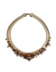 ASOS PREMIUM Golden Girl Choker Necklace