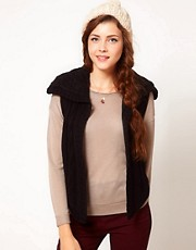 Juicy Couture Cable Knit Sleeveless Cardigan