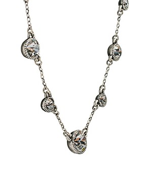 Image 4 ofCath Kidston Antique Silver Crystal Sparkle Necklace