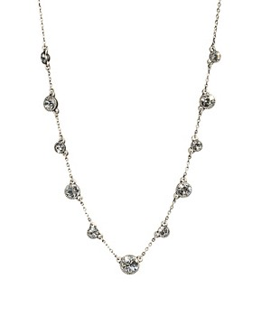 Image 1 ofCath Kidston Antique Silver Crystal Sparkle Necklace