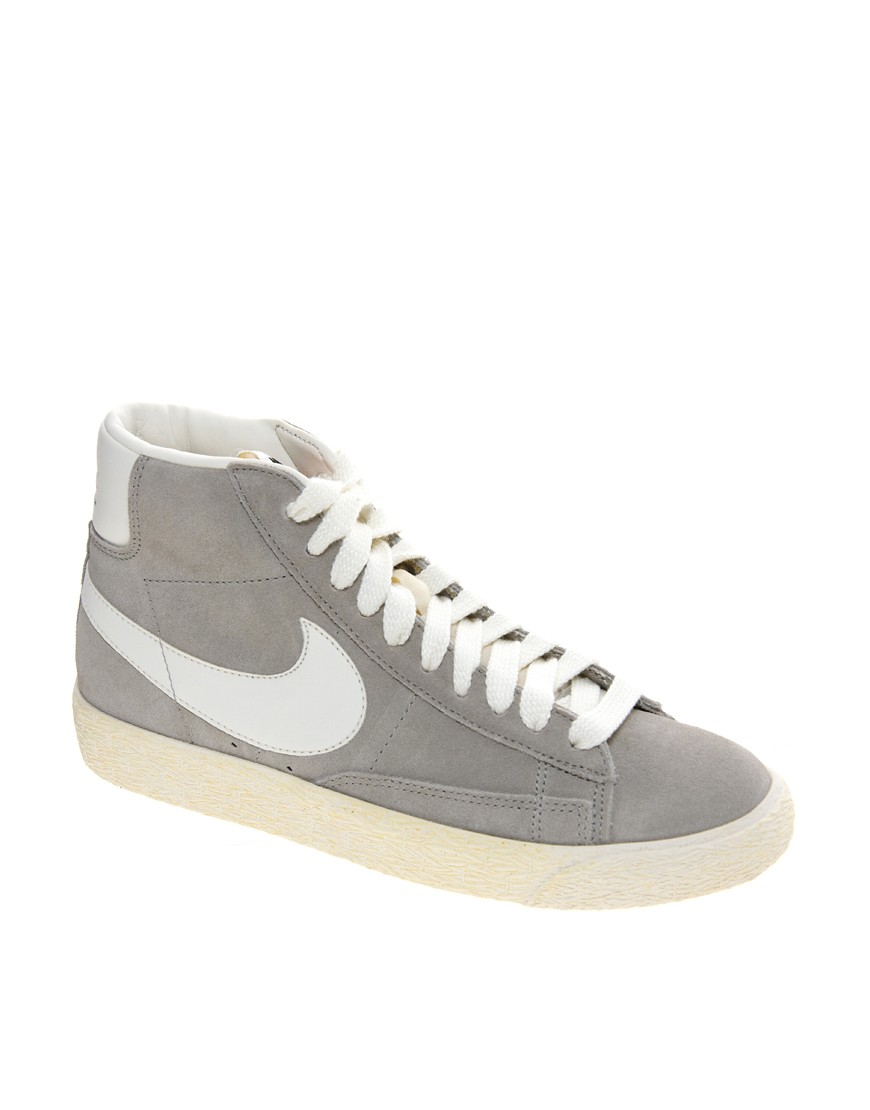 Image 1 of Nike Blazer Mid Grey Suede Trainers