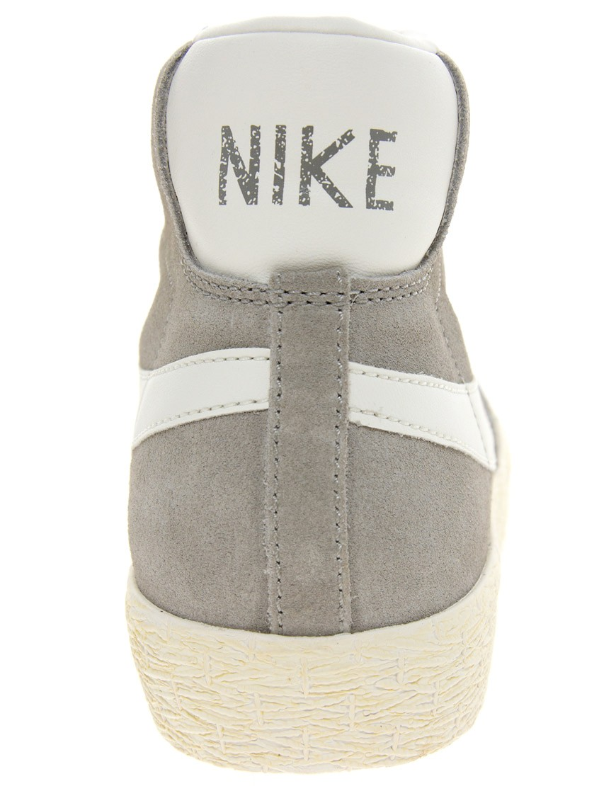 Image 2 of Nike Blazer Mid Grey Suede Trainers