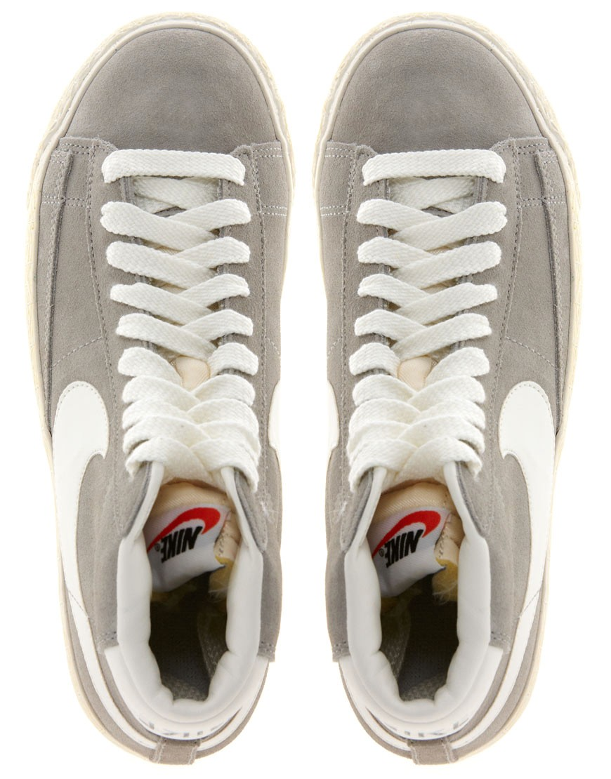 Image 4 of Nike Blazer Mid Grey Suede Trainers
