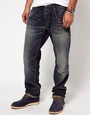 Denham Jeans Straight Mid Wash