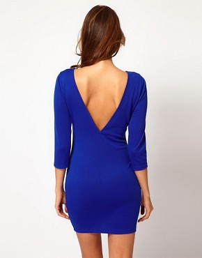 Image 2 ofPaprika Beaded Neckline Bodycon Dress