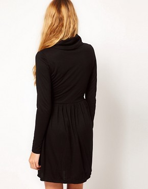 Image 2 ofVila Jersey Cowl Neck Skater Dress