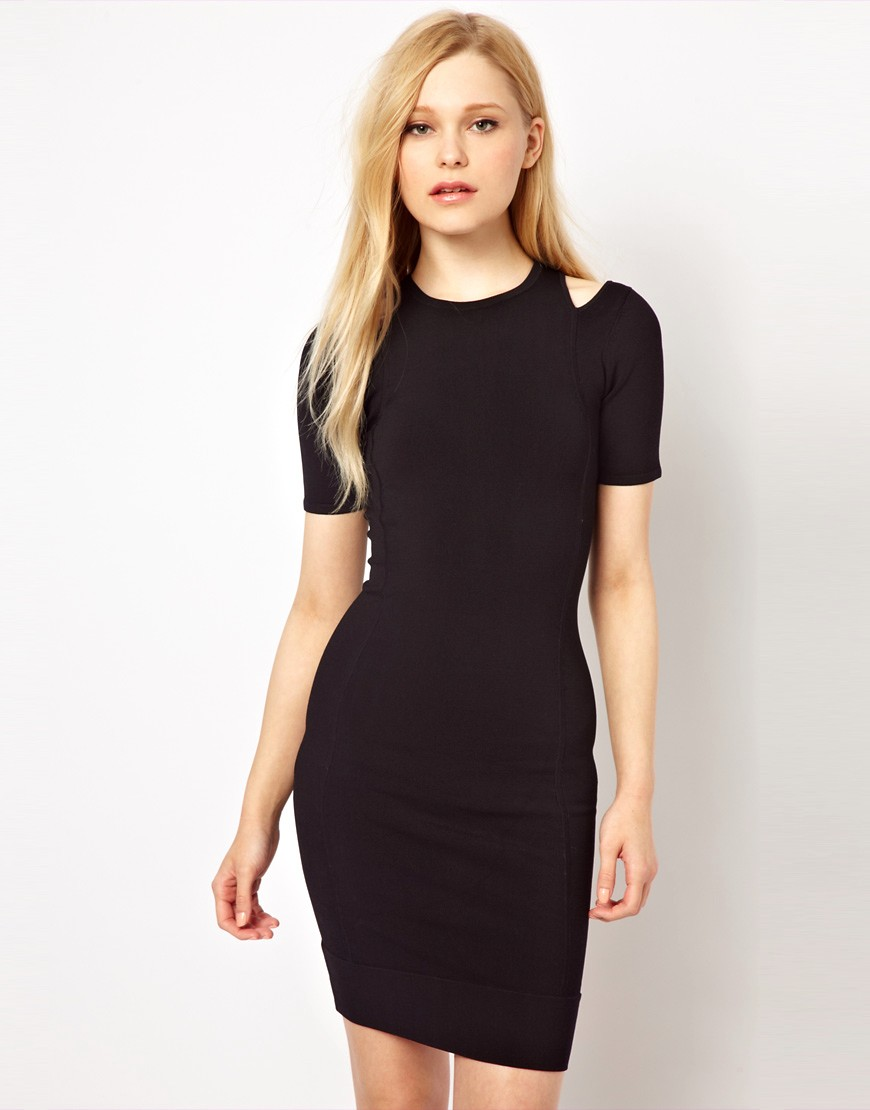 Image 1 of French Connection Dress With Cold Shoulder