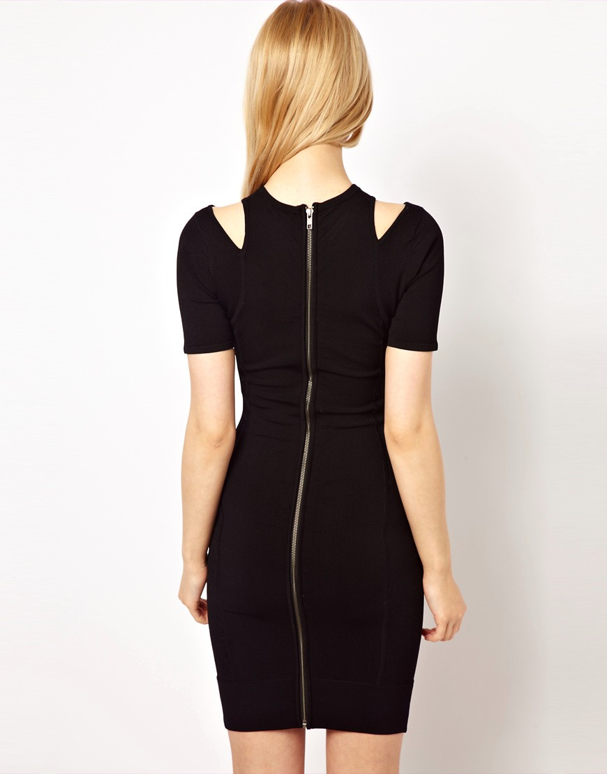 Image 2 of French Connection Dress With Cold Shoulder