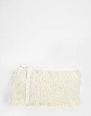 New Look Mongolian Fur Clutch
