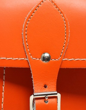Image 2 ofZatchels Leather 13&quot; Satchel
