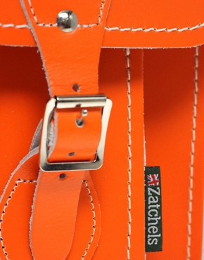 Image 4 ofZatchels Leather 13&quot; Satchel
