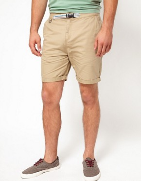 Image 1 ofASOS Chino Shorts With Belt