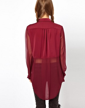 Image 2 ofFree People Sheer Panels Shirt