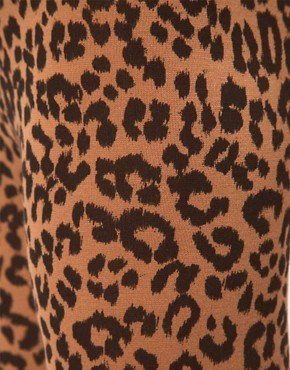 Image 3 of ASOS Leopard Print Leggings In Ponte