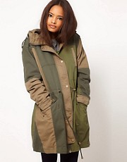 ASOS Patchwork Parka