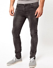 ASOS Super Skinny Jeans In Washed Gray
