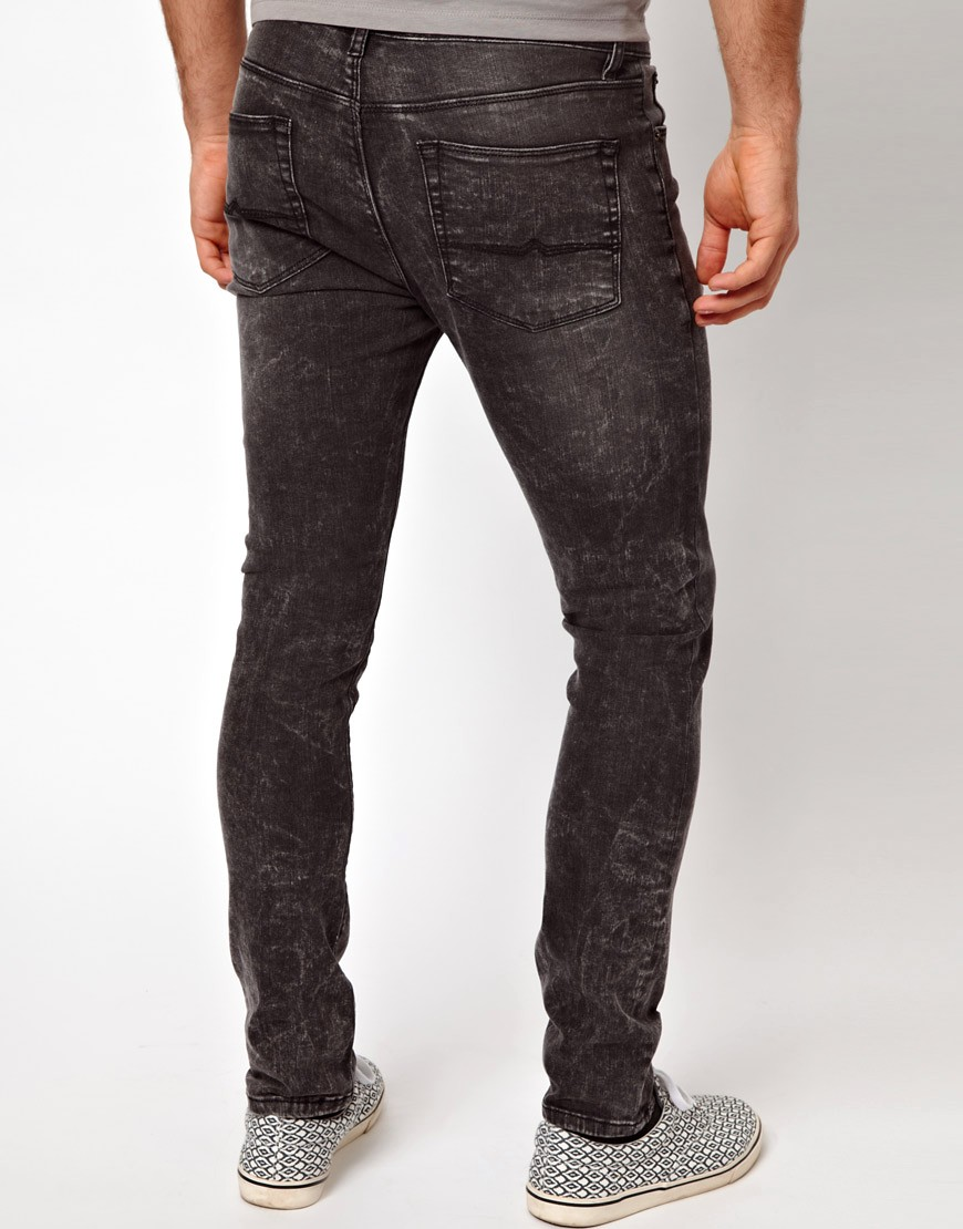 Image 2 of ASOS Super Skinny Jeans In Washed Grey