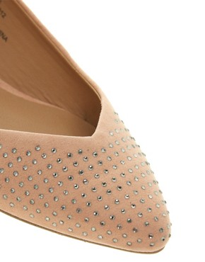 Image 4 ofRiver Island Jewelled Pointed Ballet Flats
