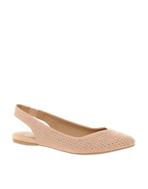 Image 1 ofRiver Island Jewelled Pointed Ballet Flats