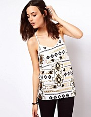 ASOS Cami in Aztec Foil Print