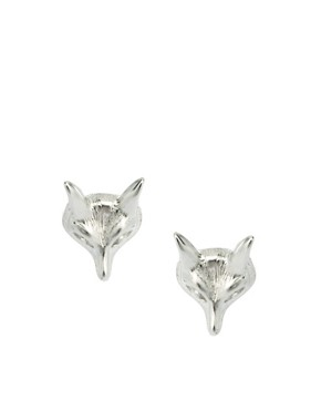 Image 1 ofASOS Fox Head Stud Earrings