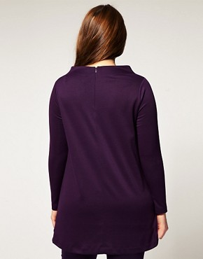 Image 2 ofASOS CURVE Exclusive Workwear Tunic in Jersey
