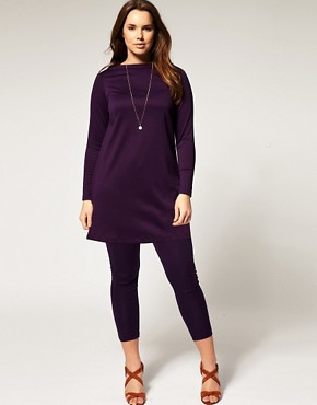 Image 4 ofASOS CURVE Exclusive Workwear Tunic in Jersey