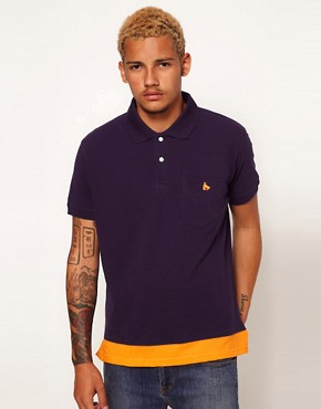 Image 1 ofMoney Pique Polo contrast detail
