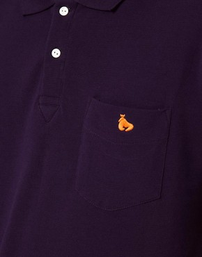 Image 3 ofMoney Pique Polo contrast detail