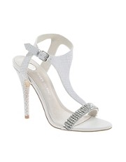 River Island  Sandalen mit T-Steg und Strass