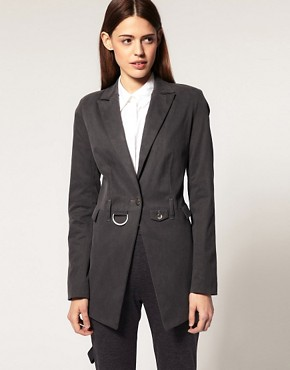 Image 1 ofASOS Premium Long Line Blazer