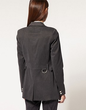 Image 2 ofASOS Premium Long Line Blazer