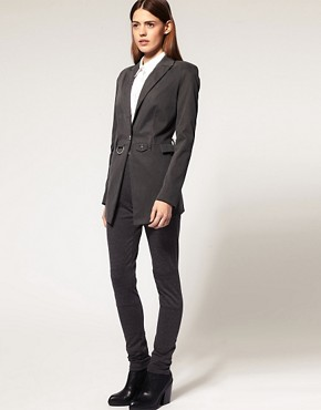 Image 4 ofASOS Premium Long Line Blazer