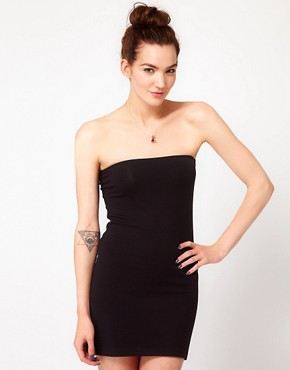 Image 1 ofAmerican Apparel Cotton Too Short Tube Dress