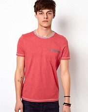 ASOS T-Shirt With Space Dye And Woven Trims