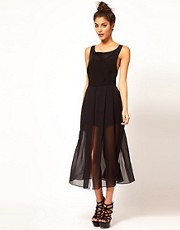 ASOS Sheer Maxi Playsuit