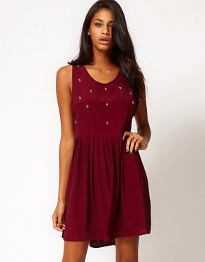 Image 1 ofMotel Laynie Hi Lo Dress with Cross Embellishment