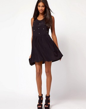 Image 4 ofMotel Laynie Hi Lo Dress with Cross Embellishment