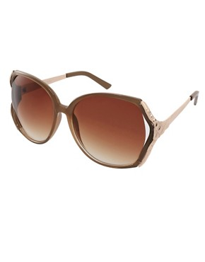 Image 1 ofRiver Island Pyramid Rim Sunglasses