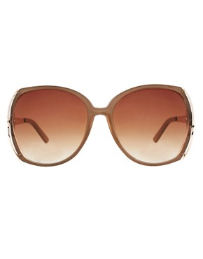 Image 2 ofRiver Island Pyramid Rim Sunglasses