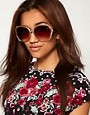 Image 3 ofRiver Island Pyramid Rim Sunglasses