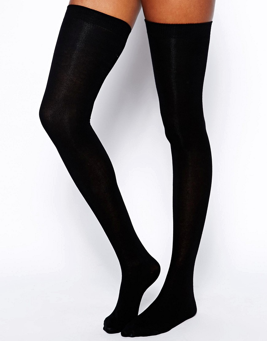 ASOS Thigh High Socks - Black