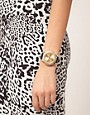 Image 2 ofLipsy Gold Round Strap Watch
