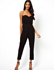 ASOS Pleat Bust Jumpsuit