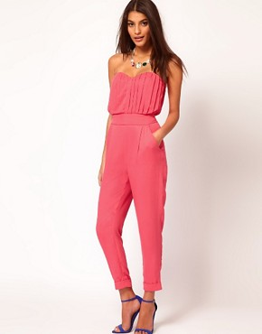 Image 1 ofASOS Pleat Bust Jumpsuit