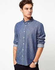 Velour Shirt With Jacquard Pattern
