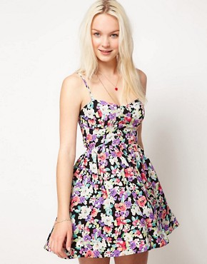 Image 2 ofMinkpink &#39;Lollie Floral&#39; Tie Back Dress